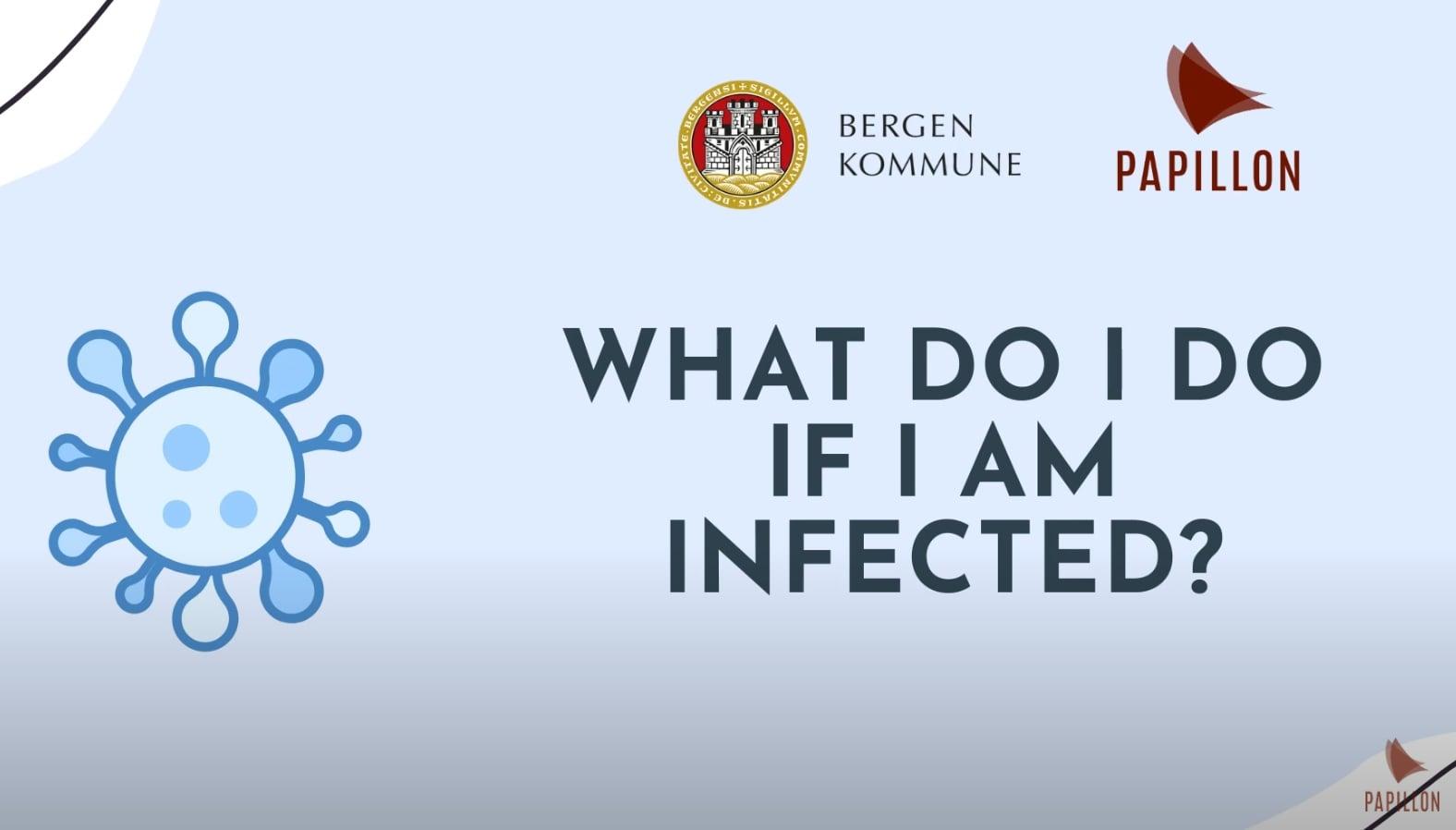 What do I do if i am infected? (Isolasjon og nærkontakter - Engelsk)
