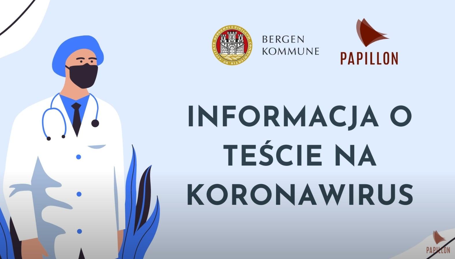 Informacja o teście na koronawirus (COVID-19 test - Polsk)