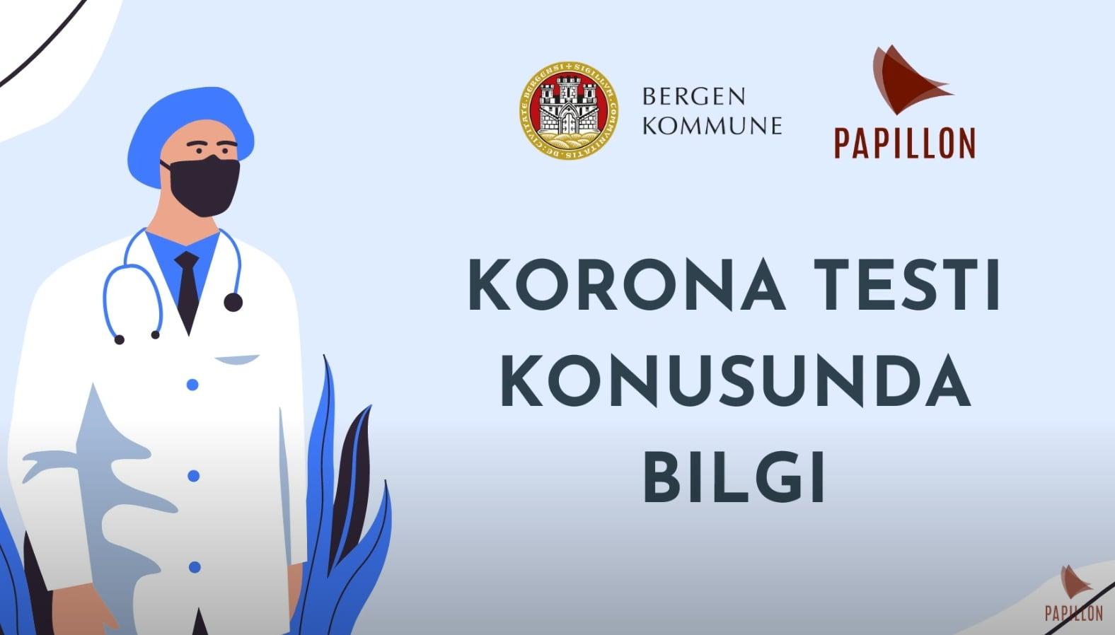 Korona testi konusunda bilgi (COVID-19 test - Tyrkisk)
