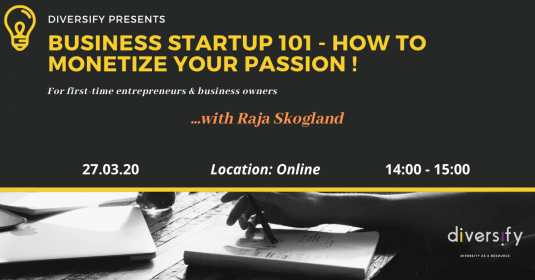 Diversify presents How to Start up a business